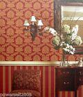 F2803 European Murals Flocking TV Background Parlour Bedroom Red Wallpaper