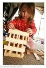 50 Pieces Wood Color Safety Environmental Protection Wooden Building Blocks Toys