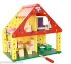 Multicolor Safety Environmental Protection Wooden House Toys