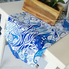 Rural Style Home Decoration Two-sided Blue Cotton Table Cover 30cm X 150cm