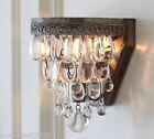 European Modern Minimalist Iron+Crystal 1 Light Restaurant Bedroom Wall Lamp