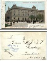 BUENOS AIRES Banco Nacion Argentinien 1903 Litho-AK nach Eimsbüttel gelaufen