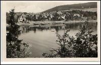 SAALBURG Saale alte Postkarte Ansichtskarte Gebraucht Gelaufen Boot Saale Partie