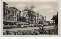 Zinnowitz Usedom DDR Postkarte 1953 gelaufen Partie an der Kurpromenade
