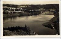 Saalburg Thüringen alte Ansichtskarte 1934 gelaufen Panorama Gesamtansicht