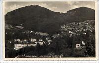 Baden-Baden alte Ansichtskarte 1937 gelaufen Hotel Bellevu mit Merkur