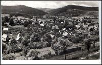 Geraberg Thüringen DDR Postkarte ~1963 Teilansicht Fachwerkhäuser gelaufen