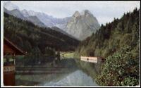 RIESSERSEE bei GARMISCH-PARTENKIRCHEN Bayern AK ~1920