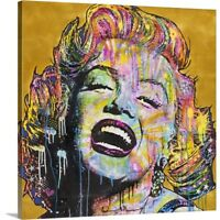 Solid-Faced Canvas Print Wall Art entitled Marilyn