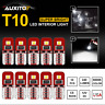 10x T10 194 168 White 6000K LED Map Dome Door Marker Dashboard Light Bulb AUXITO