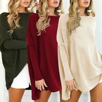Women Long Sleeve Oversized Sweater Top Casual Loose Blouse Pullover Shirt Dress