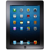 Apple iPad 4th Gen. 32GB, Wi-Fi + Cellular (Unlocked), A1459, 9.7in - Black