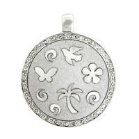 0.13ct Pave Diamond 10kt Solid White Gold Handmade Designer Pendant Gift Jewelry