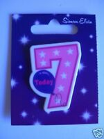 Small Shaped Party Badge - 7 Today (Girl)(AA SE 7th)