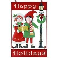 CHRISTMAS CAROLERS greeting Yard DECK WELCOME SIGN new
