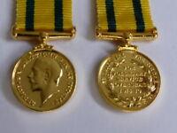 MEDALS - WW1 - TERRITORIAL FORCE WAR MEDAL - MINIATURE