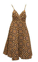 NEW BROWN PRINT SUMMER DRESS BY MONSOON SIZE 10 RRP £45