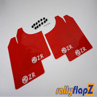 Mudflaps to fit MGZR Mud Flaps Red White Logo NEW