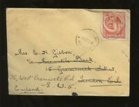 PAPUA 1938 2d SOLO FRANKING COVER to LONDON