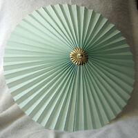 """Sm Lt GREEN 13"""" Pleated uplighter Pendant lampshade"""