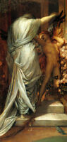 LOVE AND DEATH ANGELS PAINTING BY GEORGE WATTS ON CANVAS REPRO SMALL