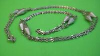 Wundervolle Damen Silber Kette lang 835er Silber