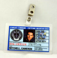 Stargate Command SG-1 ID Badge-Lt. Colonel Mitchell