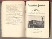 Finanzielles Jahrbuch 1908  Auskunftsbuch Wertpapiere