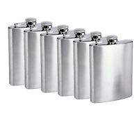 8oz (6) Flask Groomsmen Bridesmaid Gift WEDDING Present