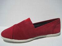 SODA ~ WOMENS FLATS ~ RED CORDOROY ~ VERY COMFORTABLE
