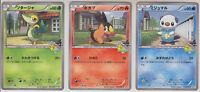 Pokemon Card BW Promo Snivy Tepig Oshawott 042-044/BW-P Apita Store Exclusive