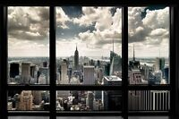 NEW YORK WINDOW VIEW  POSTER WITH FRAMING OPTIONS OR HANGERS OR POSTER  ONLY