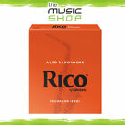 Rico 2 Strength Alto Saxophone Reeds - Box of 10 - New Reed - The Music Shop