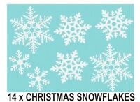 14 x SNOWFLAKES CHRISTMAS DECORATIVE WINDOW WALL CAR STICKERS