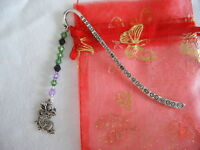 dragon beaded tibetan silver handmade bookmark wedding favour birthday gift