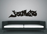 Personalised Graffiti wall art sticker name style B, any name available