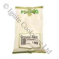 1.5Kg GROUND RICE FLOUR COARSE PREMIUM QUALITY COOKING INGREDIENT