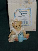 "Cherished Teddies ""Planting the Seed of Friendship"" JUNE  BEAR figurine w/Box"