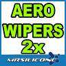 """22"""" 22"""" Front Aero Exact Fit Flat Wiper Blades Beam Car Window Windscreen New"""