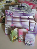 24 BOXES WEDDING CONFETTI TRADITIONAL ROSE BIODEGRADABLE PAPER SHAPES