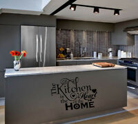 KITCHEN IS THE HEART OF THE HOME  WORDS HOME  VINYL DECOR DECAL WALL LETTERING
