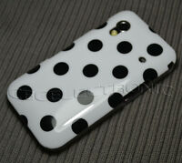 New white Dot Gloss hard case back cover for Samsung Galaxy Ace S5830