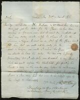 Northants DAVENTRY 1816 re LAW + TRICKSTER......PROVINCIAL POST... ENTIRE LETTER