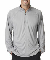 8432 UltraClub Adult Cool-N-Dry Sport Long-Sleeve 1/4-Zip All Colors Sizes