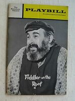 Playbill For Fiddler On The Roof 1972