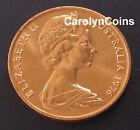 2 Cent Coin UNC 1976 Frilled Neck Dragon Lizard 2c Australian Coin Copper Alloy