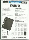 LIGHTHOUSE VARIO ZWL Pack of 5 BLACK VINYL BANKNOTE DIVISION INTERLEAF PAGES