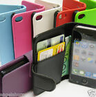 7xBulk Apple iPhone 4 4G 4S 4GS Wallet Credit Card Flip Leather Pouch Case Cover