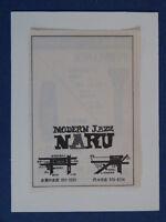 m/ handmade greetings birthday card 1970s TOKYO naru modern jazz ,  jazz club ad