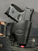 NEW BARSONY Concealment Yaqui Gun Holster Black Leather for Ruger LC9